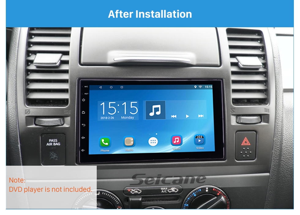 Seicane 173*98mm Double Din 2010 Nissan Tiida Car Radio Fascia Auto Stereo Interface Frame Panel CD Trim