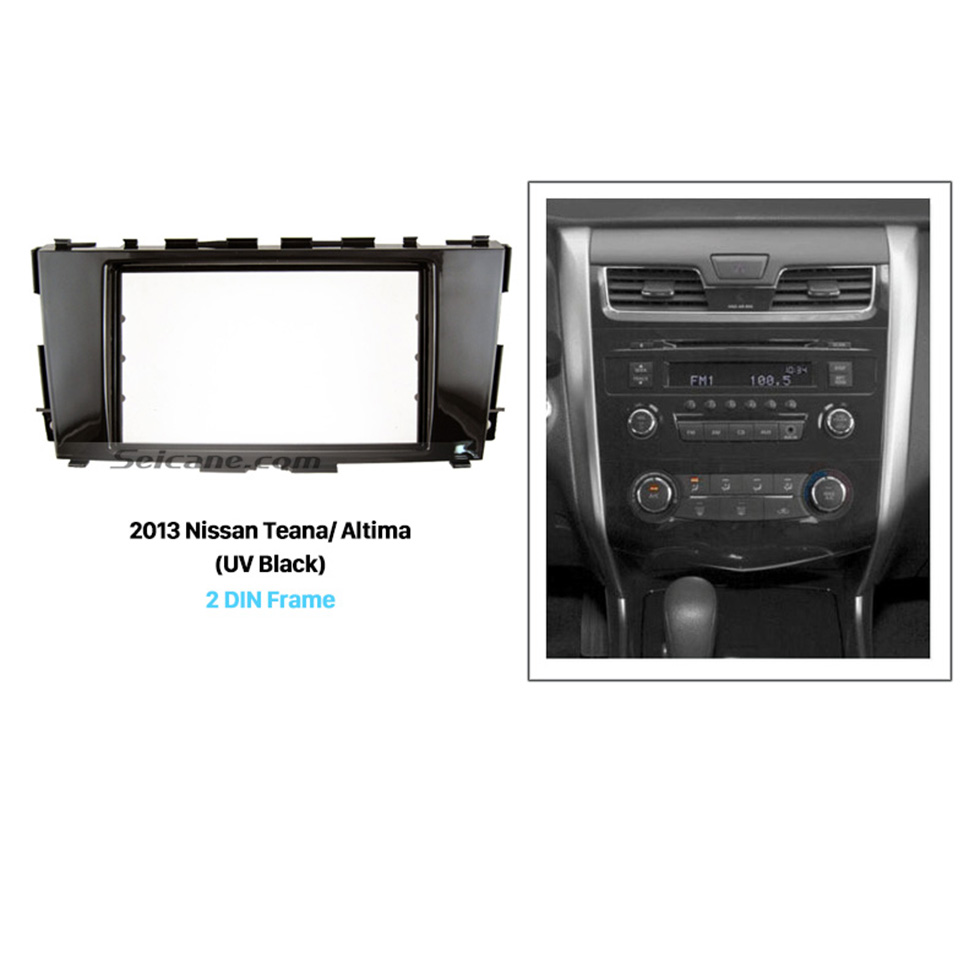 Seicane UV Black Double Din 2013 Nissan Teana Altima Car Radio Fascia CD Installation Kit Audio Fitting Adaptor Panel Frame