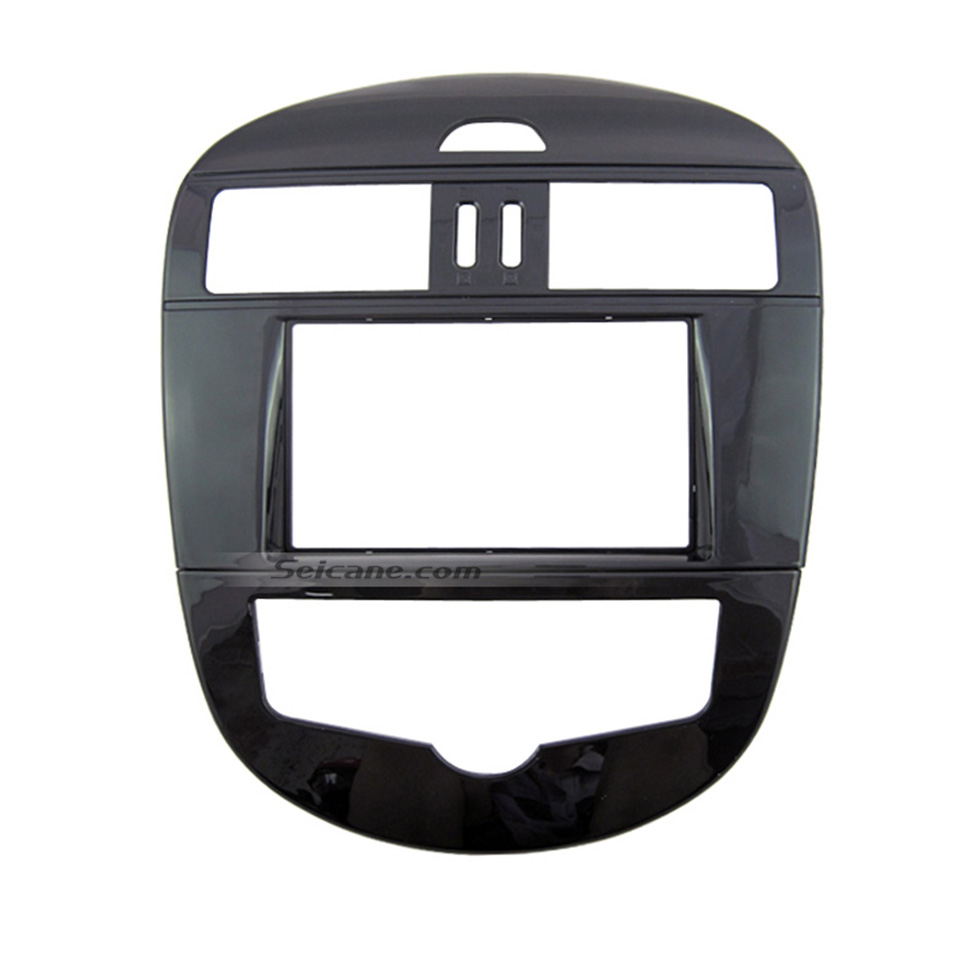 Seicane UV Black 2Din 2011 2012 Nissan Tiida Pulsar SSS with Auto AC Car Radio Fascia CD Trim Autostereo Adapter Audio Frame
