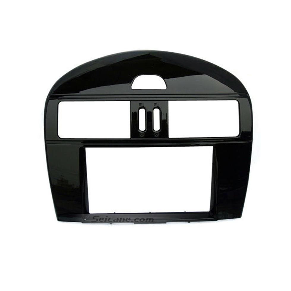 Seicane UV Black 2Din 2011 2012 Nissan Tiida Pulsar SSS with Manual AC Car Radio Fascia Panel Plate Stereo Dash CD Trim Bezel