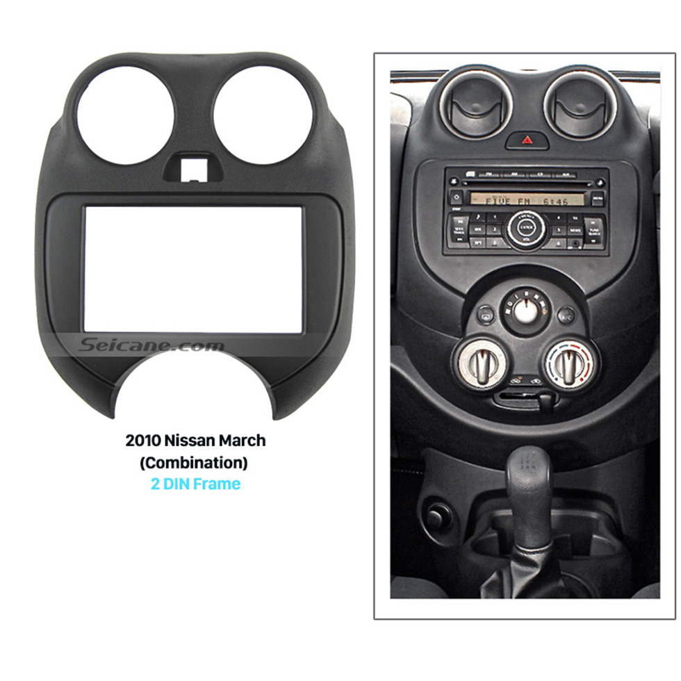 Seicane Combination Double Din 2010 Nissan March Car Radio Fascia Dash Mount Kit Adapter CD Trim Face Plate Panel