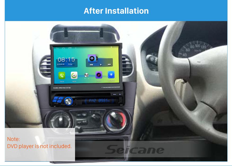 Seicane Classic 1Din 1998-2002 Nissan N16 Fb15 Sunny Ex Sentra Car Radio Fascia Autostereo Adapter Trim Bezel Frame Panel