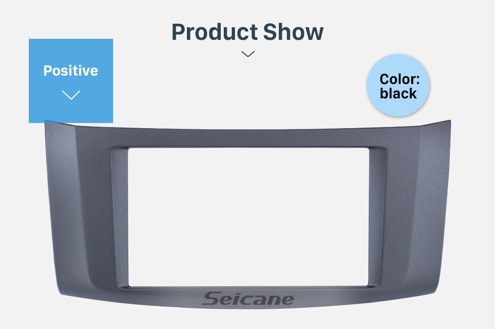 Seicane Black Double Din 2012 Nissan Sylphy Sentra Pulsar Car Radio Fascia Frame Panel DVD Stereo Player Audio Cover