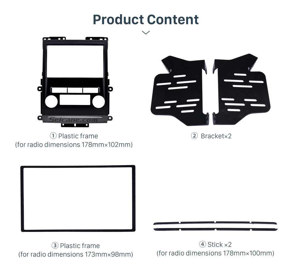 Product Content Black 2Din 2009 Nissan Frontier Xterra Car Radio Fascia Audio Fitting Adaptor Frame Panel Installation