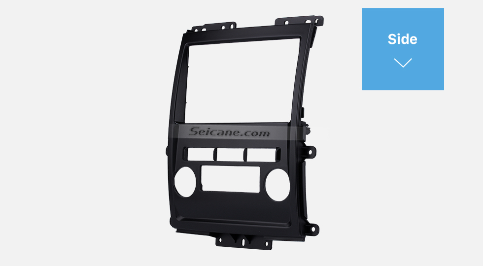 Side Black 2Din 2009 Nissan Frontier Xterra Car Radio Fascia Audio Fitting Adaptor Frame Panel Installation