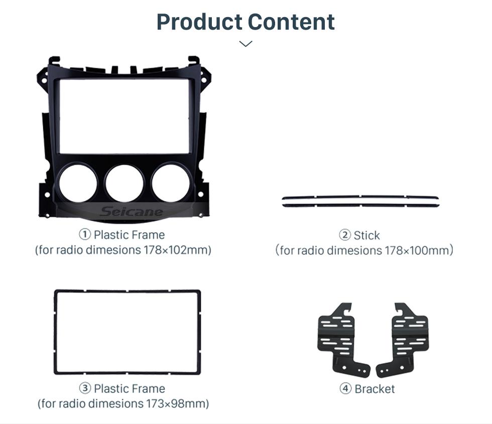 Seicane Double Din 2009 Nissan 370Z Fascia Frame Dash Mount Kit Trim Panel No gap