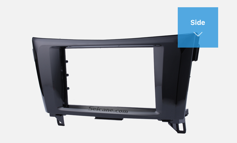 Seicane UV Black 2Din 2014 Nissan X-Trail Qashqai Car Radio Fascia Frame Panel Dash Mount Kit Adapter Stereo Interface