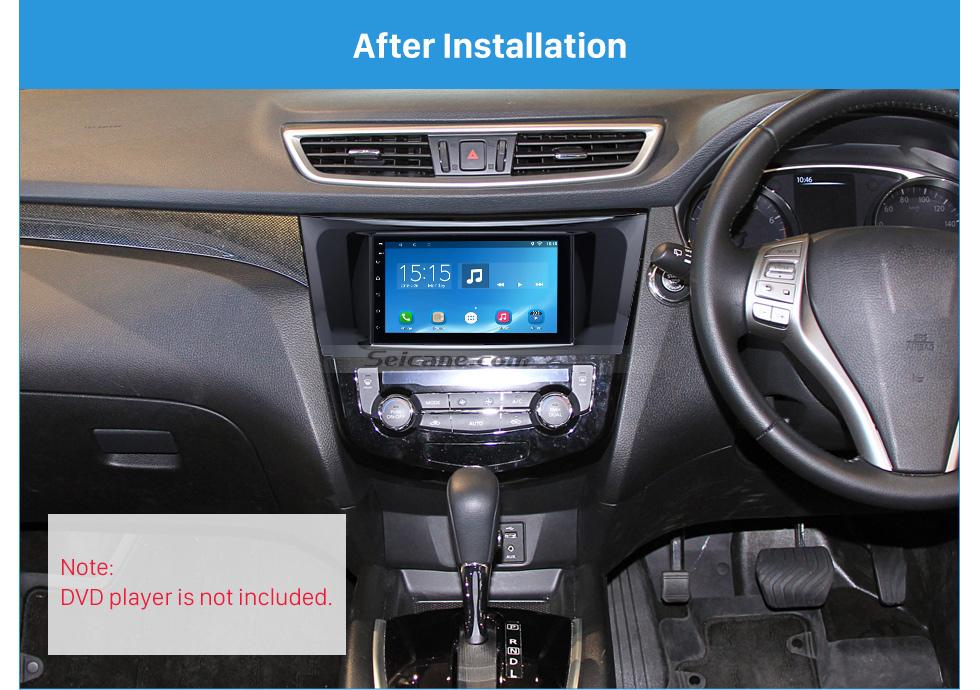 Seicane UV Black 2Din 2014 Nissan X-Trail Qashqai Car Radio Fascia Frame Panel Dash Mount Kit Adapter Stereo Interface