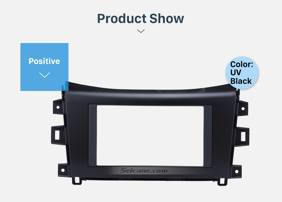Seicane UV Black Double Din 2014 2015 Nissan Navara NISSAN NP300 Car Radio Fascia Trim Installation Kit Install Frame Dash CD