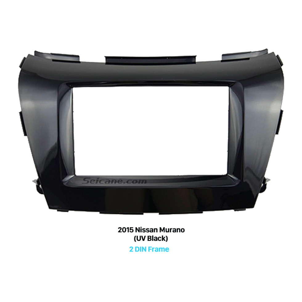 Seicane UV Black Double Din 2015 Nissan Murano Car Radio Fascia Dash Trim Kits Stereo Frame Panel Audio Player
