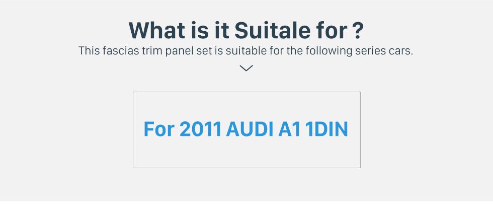 Seicane Stylish 1Din 2011 Audi A1 Car Radio Fascia Trim Install Frame Surround Panel Dash Mount Kit