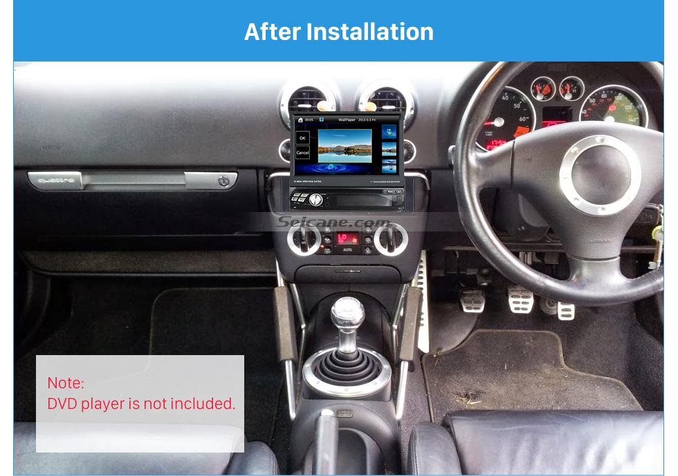 Seicane Exquisite 1Din 1998-2003 AUDI TT 1999-2002 AUDI A2 A4 Car Radio Fascia Frame Panel Stereo Dash Audio Cover
