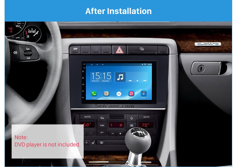 Seicane 173*98mm Double Din 2004 2005 2006 2007 2008 Audi A4 Car Radio Fascia Autostereo Panel kit Audio Frame Trim Bezel