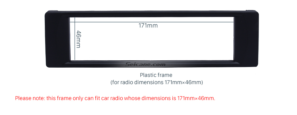 Seicane Well-crafted 1Din 2003 Audi A6 Car Radio Fascia Autostereo Panel kit Stereo Player Trim Installation