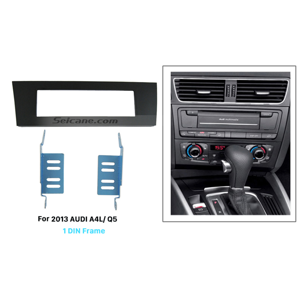 Seicane Newest 1Din 2013 Audi A4L Q5 Car Radio Fascia Panel Plate Frame Stereo Install In Dash Mount Kit