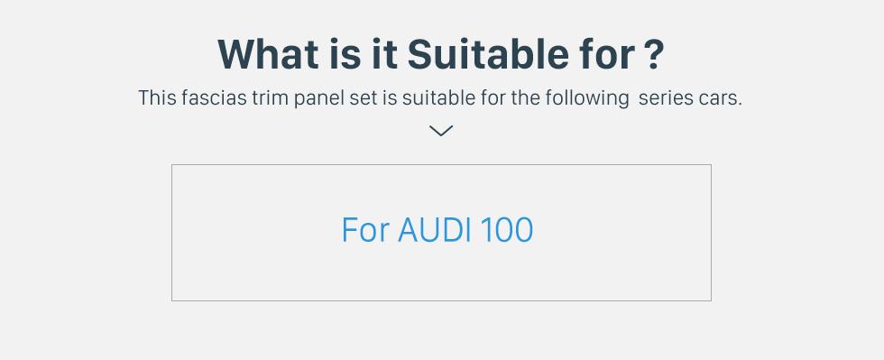 Seicane Stylish 1Din Audi 100 Car Radio Fascia Dashboard CD Trim Installlation Kit Stereo Frame Panel DVD Player