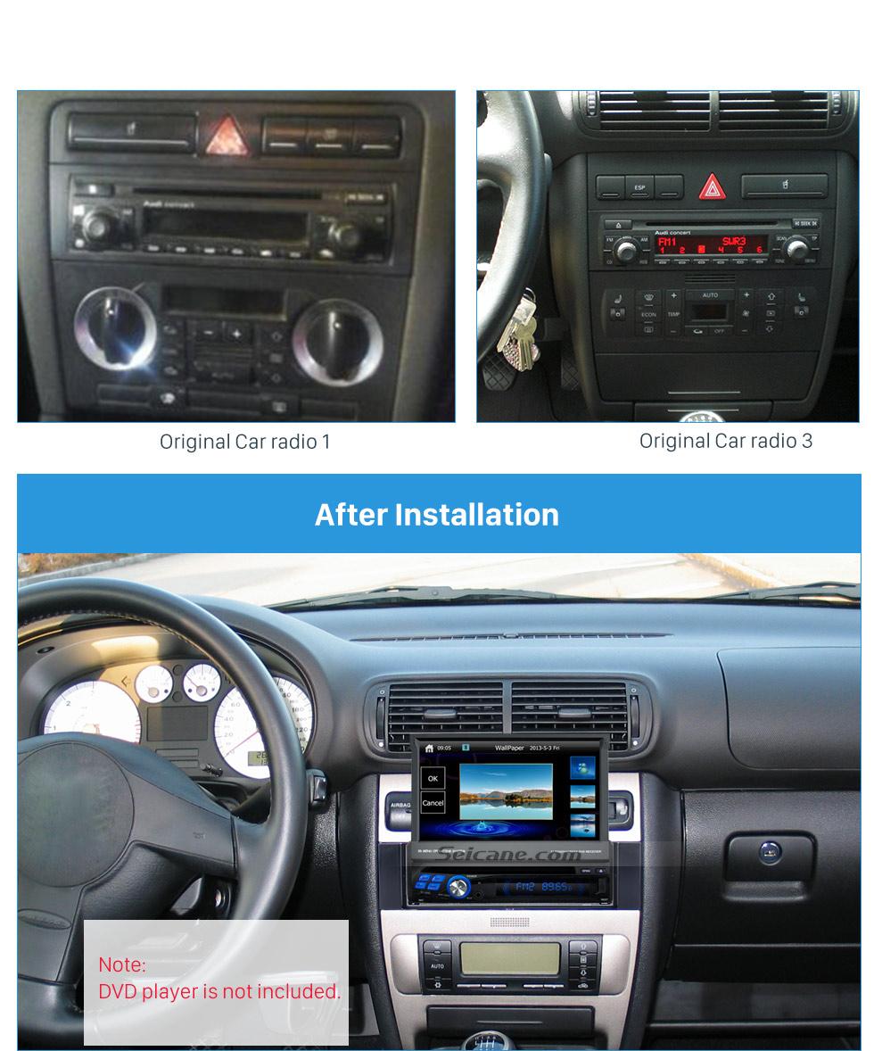 Seicane Nice 1Din 2001-2003 AUDI A3 8L 2000 2001 AUDI A6 4B 2007 Fiat Scudo 1999-2005 Seat Toledo Leo Car Radio Fascia Frame Panel