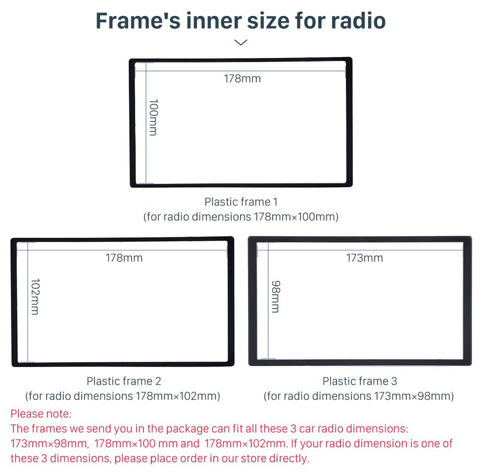 Seicane Black Double Din 2000+ Audi TT Car Radio Fascia Autostereo Panel Kit Fitting Frame Stereo Dashboard Install