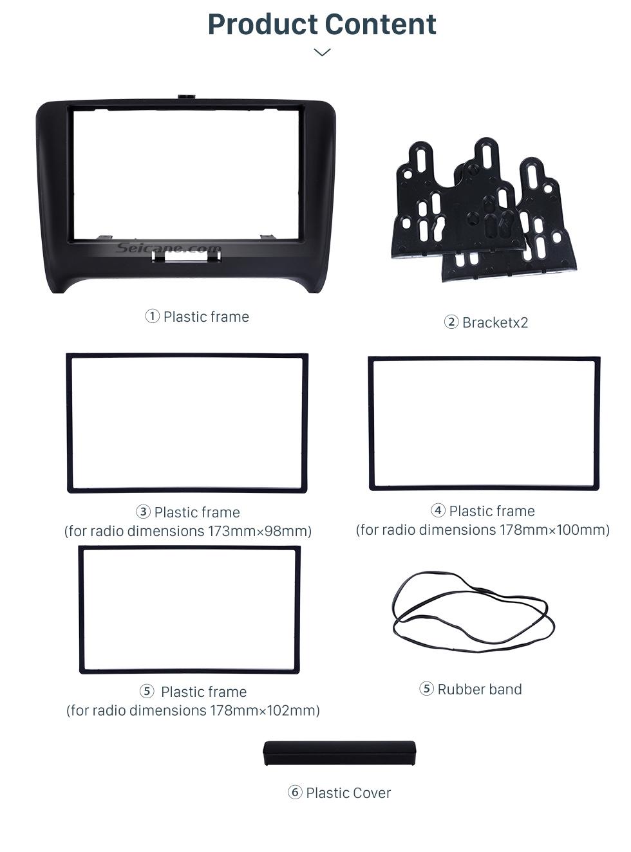 black double din 2000  audi tt car radio fascia autostereo panel kit fitting frame stereo