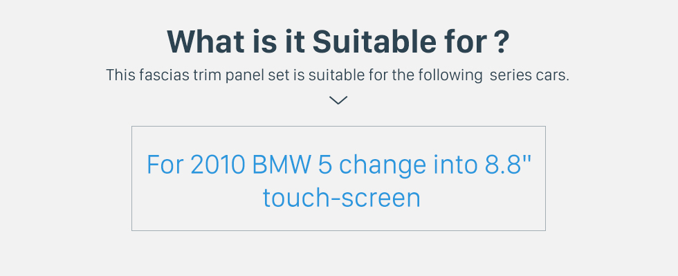 Seicane Top quality 8.8 Inch 2010 BMW 5 Car Radio Fascia Autostereo Interface Audio Player Dash CD Trim Bezel frame