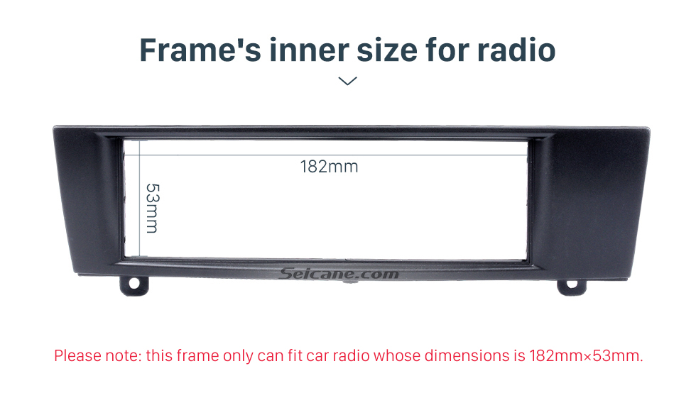Seicane Top quality 1Din 2007 BMW 3 Car Radio Fascia DVD player Frame Trim Installation Decorated Panel Kit