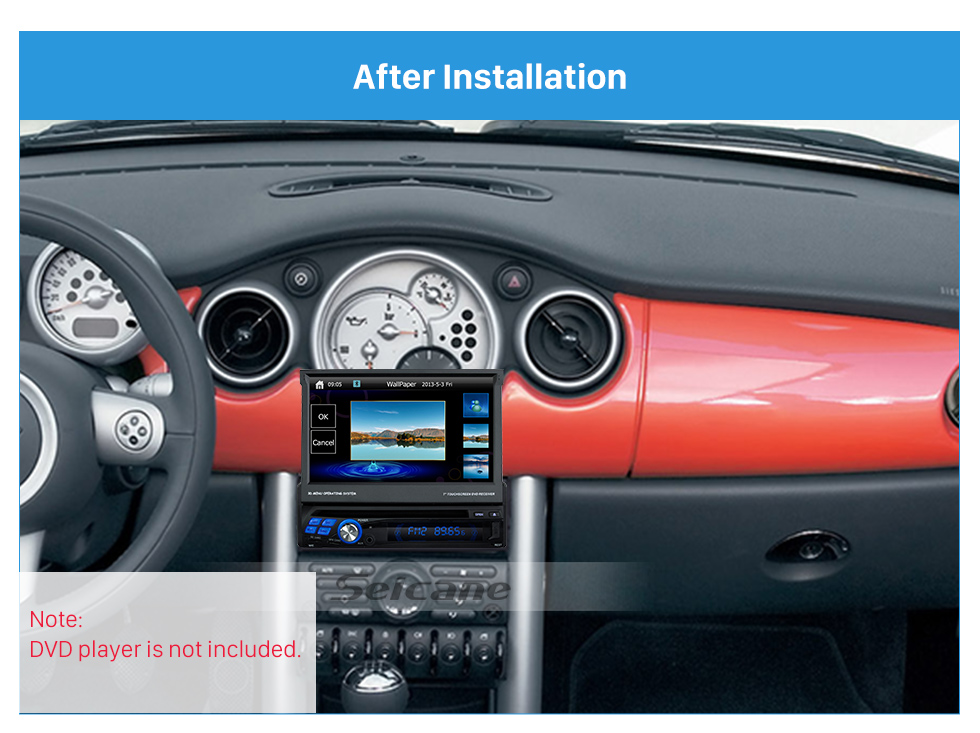 Seicane Top Quality One Din BMW Mini Cooper R50 R52 R53 Car Radio Fascia Stereo Dash DVD Player Installation Trim Panel Car Kit
