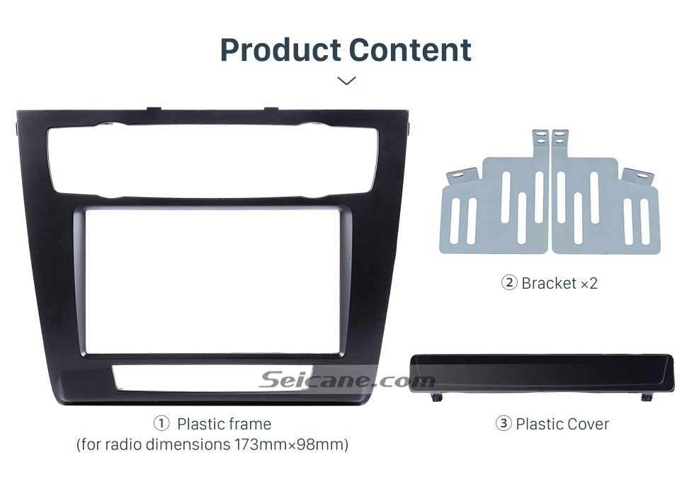 Seicane New Arrival 2007 BMW 1 Series E81 Car Radio Fascia DVD Player Stereo Interface Trim Panel Face Plate Installation Frame Kit