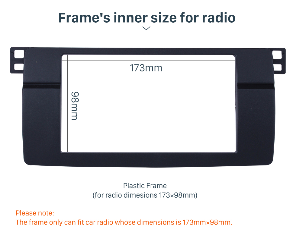 Seicane Top Quality Double Din 1998-2005 BMW 3 Series E46 Car Radio Fascia Stereo DVD Player frame Interface Installation Face Plate Kit