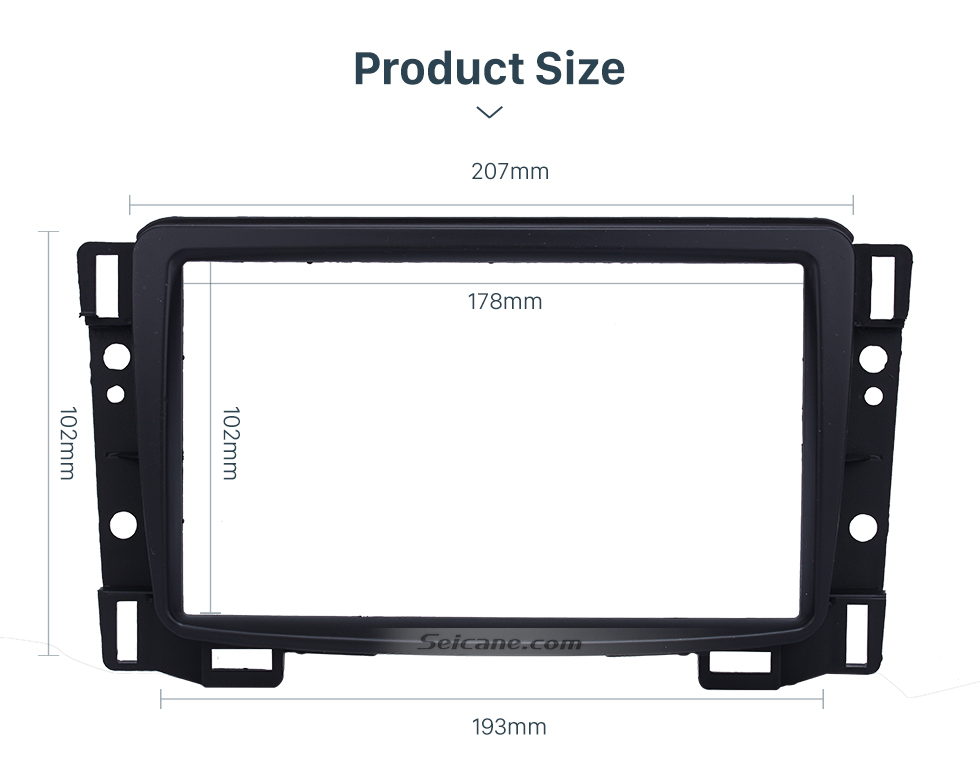 Seicane Double Din 2011 Chevrolet Sail Car Radio Fascia DVD Stereo Refit Panel Dashboard Modified Installation Kit Frame