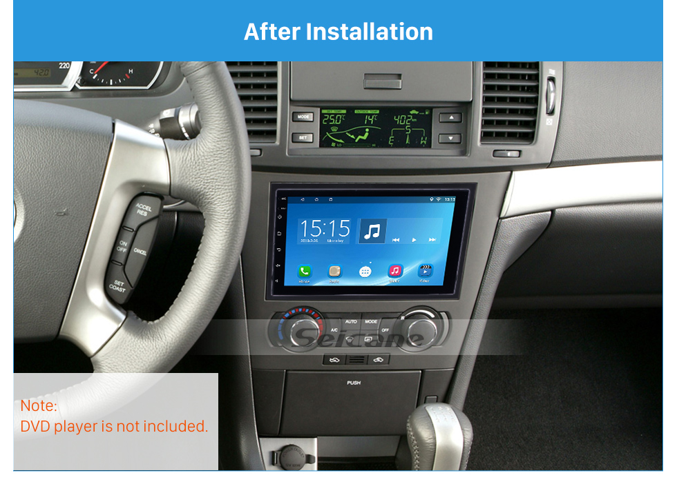 Seicane 2 Din 2006 Chevrolet Epica Optra-Aveo Car Radio Fascia Stereo Vehicle-mounted Installation Modified Panel Frame Car Kit