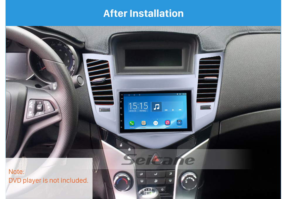Seicane Newest Double Din 2009-2011 Chevrolet Cruze Car Radio Fascia Stereo DVD Player Install frame Surrounded Trim Panel Kit