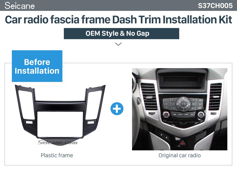 Seicane Double Din 2009-2011 Chevrolet Cruze Car Radio Fascia Stereo Dashboard Install frame Modified Surrounded Trim Panel Kit
