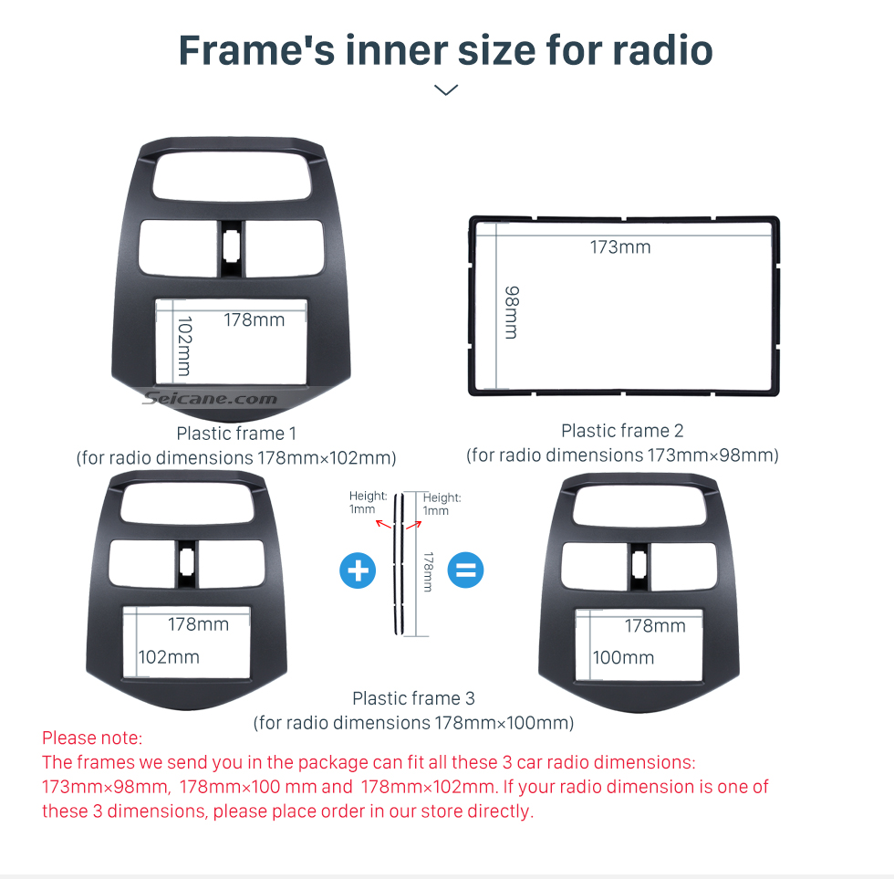 What is it Suitable for? 2 DIN 2010 Daewoo Martiz Chevrolet Spark Beat Car Radio Fascia Stereo Dashboard Installation Frame Trim Panel