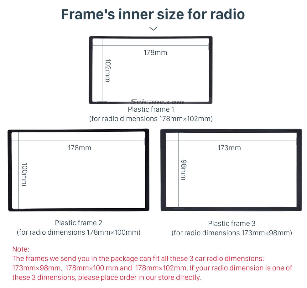 Seicane 2 DIN 2014 Daewoo Martiz Chevrolet Spark Beat Car Radio Fascia Dash DVD Player Stereo Installation Frame Trim Panel Kit