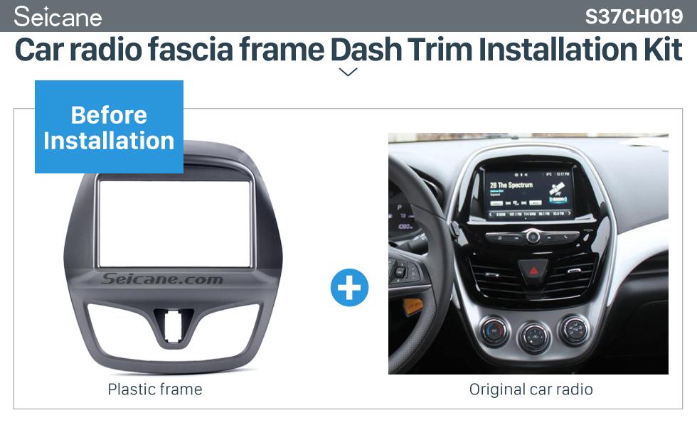 Seicane 2 DIN 2015 Daewoo Martiz Chevrolet Spark Beat Car Radio Fascia Dash Stereo Install frame Trim Panel Face Plate Kit