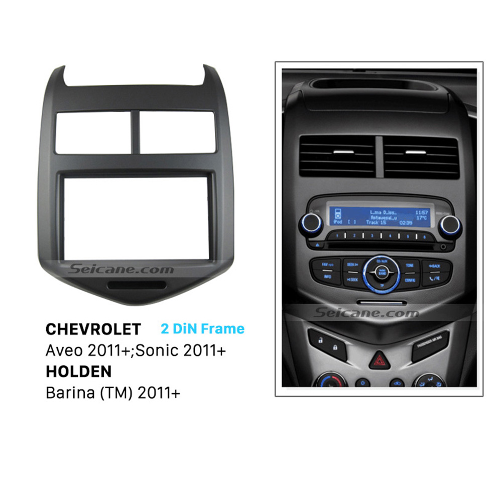 Seicane Hot Sale 2DIN 2011+ Chevrolet Aveo Car Radio Fascia DVD Player Dash Surrounded Install Trim Panel Face Plate Kit
