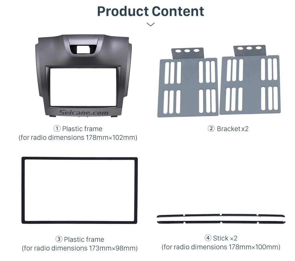 Seicane 2 DIN 2012 Chevrolet Colorado Car Radio Fascia Stereo Dashboard Surrounded Installation frame Trim Panel Car Kit Face Plate