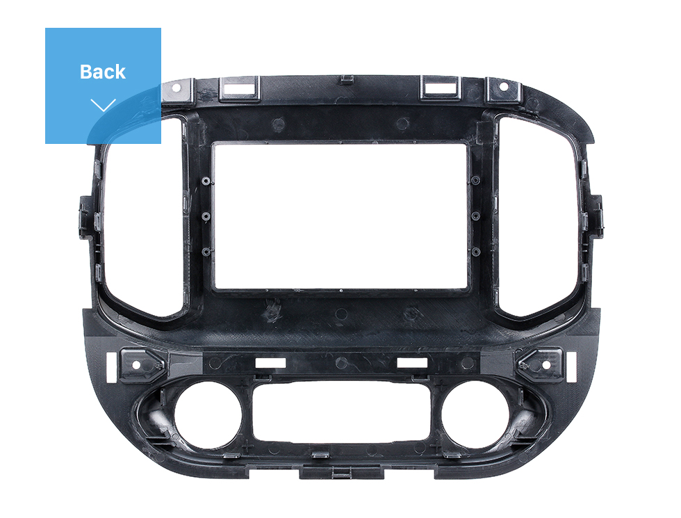 Seicane 2 DIN 2015 Chevrolet Colorado GMC Cayon Car Radio Fascia Stereo Dash Surrounded Install Trim Panel Car Kit Face Plate