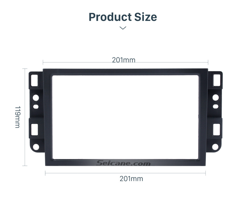Frame's inner size for radio 2 DIN 2006 Chevrolet Lova Captiva Gentra Aveo Epica Car Radio Fascia Stereo Dash Install Trim Panel Car Face Plate Frame Kit