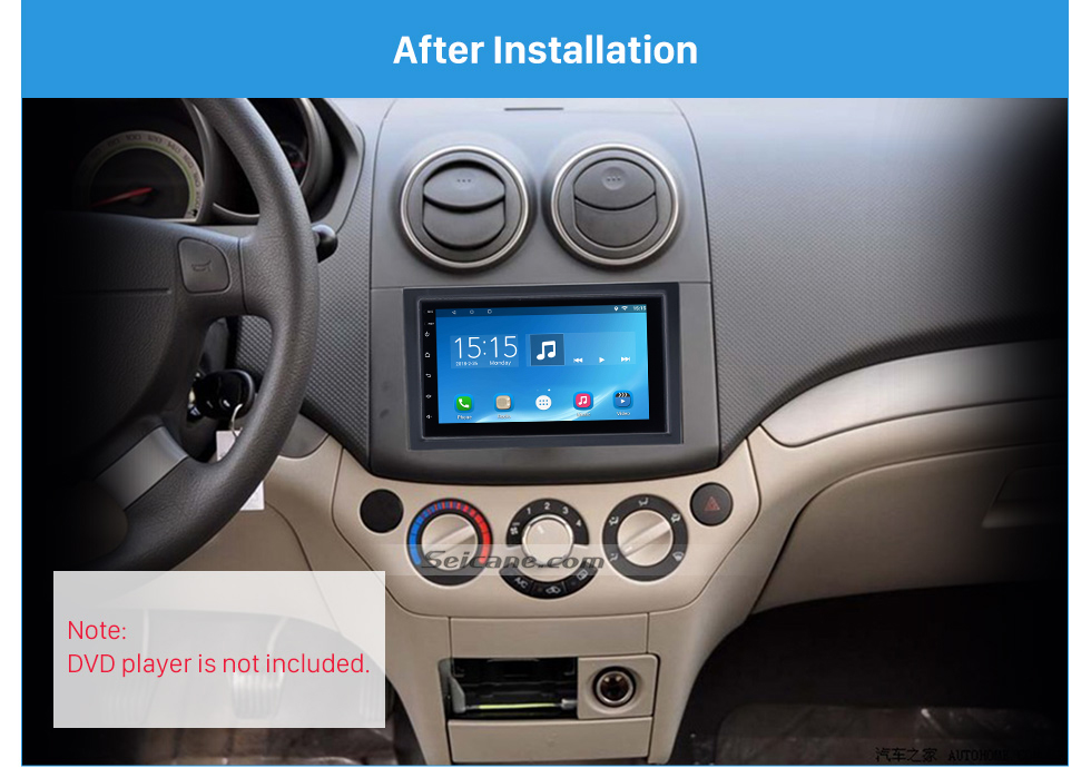 After Installation 2 DIN 2006 Chevrolet Lova Captiva Gentra Aveo Epica Car Radio Fascia Stereo Dash Install Trim Panel Car Face Plate Frame Kit
