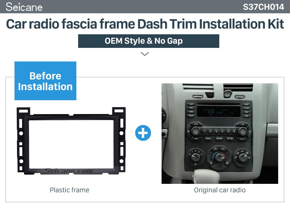 Seicane 2DIN 2004 2005 Chevrolet Malibu Equinox Car Radio Fascia Stereo Mounted Installation Trim Panel Face Frame