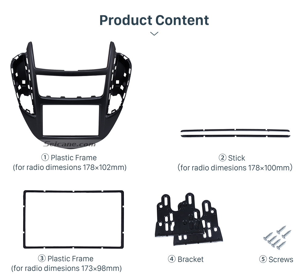 Seicane Top Quality 2DIN 2014 Chevrolet Trax Car Radio Fascia DVD Player Vehicle-mounted Install Trim Panel Face Frame Plate