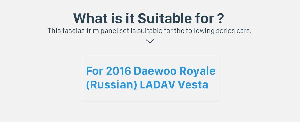 Seicane 2DIN 2016 Daewoo Royale Russian/LADA Vesta Car Radio Fascia Stereo Refitting Mounted Frame Installation Trim Bezel Kit