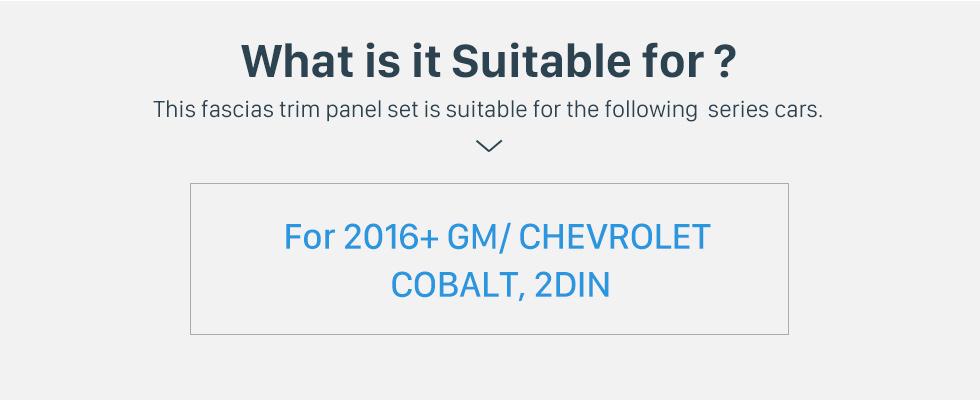 Seicane Double Din Car Stereo Radio Fascia Panel Install 370368 Dash Bezel Trim Mount Kit For 2016+ GM CHEVROLET COBALT OEM style No gap