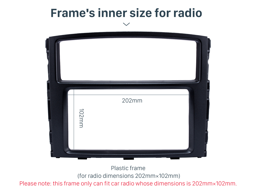 Seicane Professional 2Din 2010 Mitsubishi Pajero Car Radio Fascia Auto Styling Trim Dash Frame CD Installation Kit