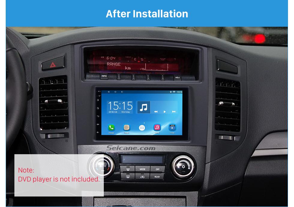 Seicane Classic Double Din 2010 Mitsubishi Pajero Car Radio Fascia Stereo Installation Dash Mount Adaptor DVD Frame