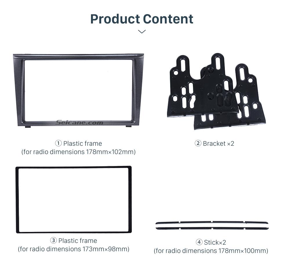 Seicane Good Quality 2Din 2007 2008 2009 Mitsubishi Colt Plus Car Radio Fascia Stereo Frame Interface Panel Trim Installation Kit