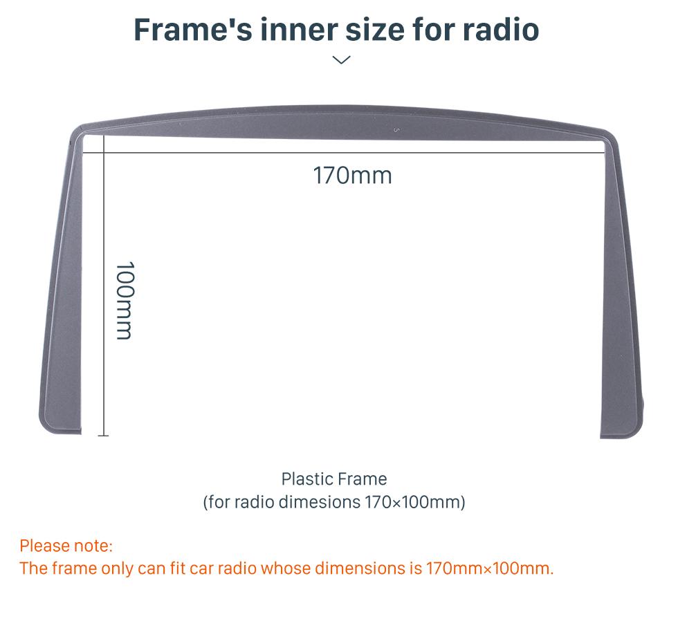 Seicane Nice 2Din 2008 Mitsubishi Lancer Car Radio Fascia Trim Installation Kit DVD Player Stereo Plate Frame Panel