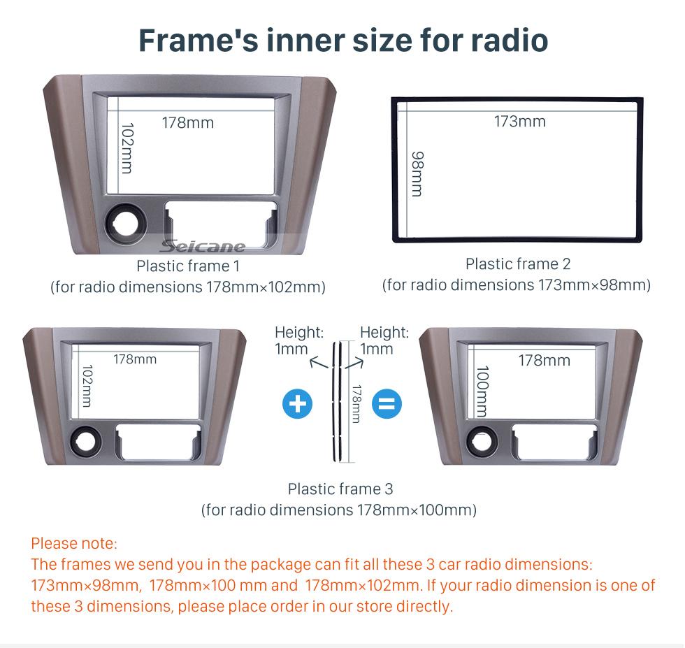Seicane Grey Double Din 2008 Mitsubishi Lancer Car Radio Fascia Dashboard DVD Frame Stereo Dash Kit Installation