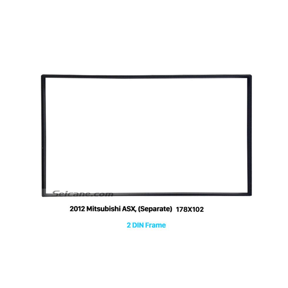 Seicane 178*102mm Double Din 2012 Mitsubishi ASX Car Radio Fascia Dash CD Trim Installation Kit Fitting Frame Panel Adaptor